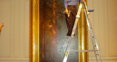 Albert Bierstadt The Framing of a Redwood