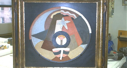 Hollis Taggart Galleries, A Framing Challenge- a Bowl by Marsden Hartley