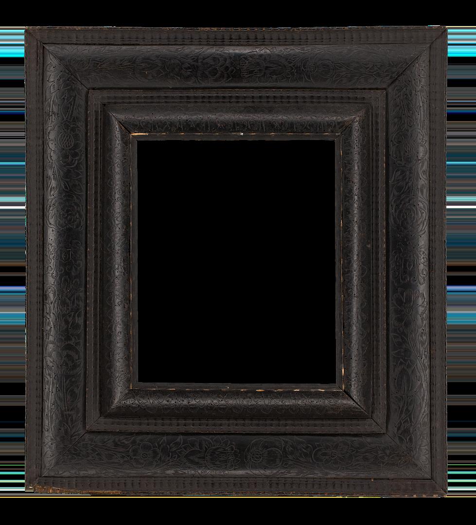 Dutch 17th Century Black Receding Frame