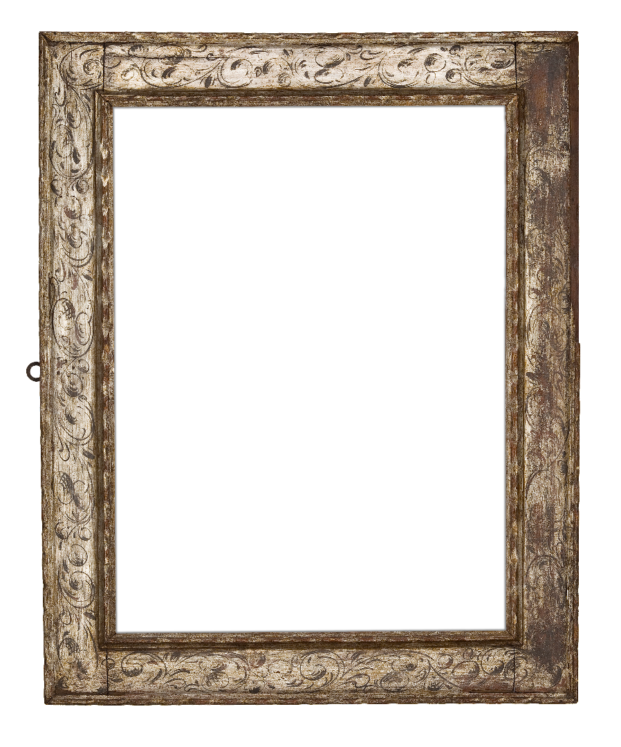 Spanish 18th Century Silver Leaf Receding Frame