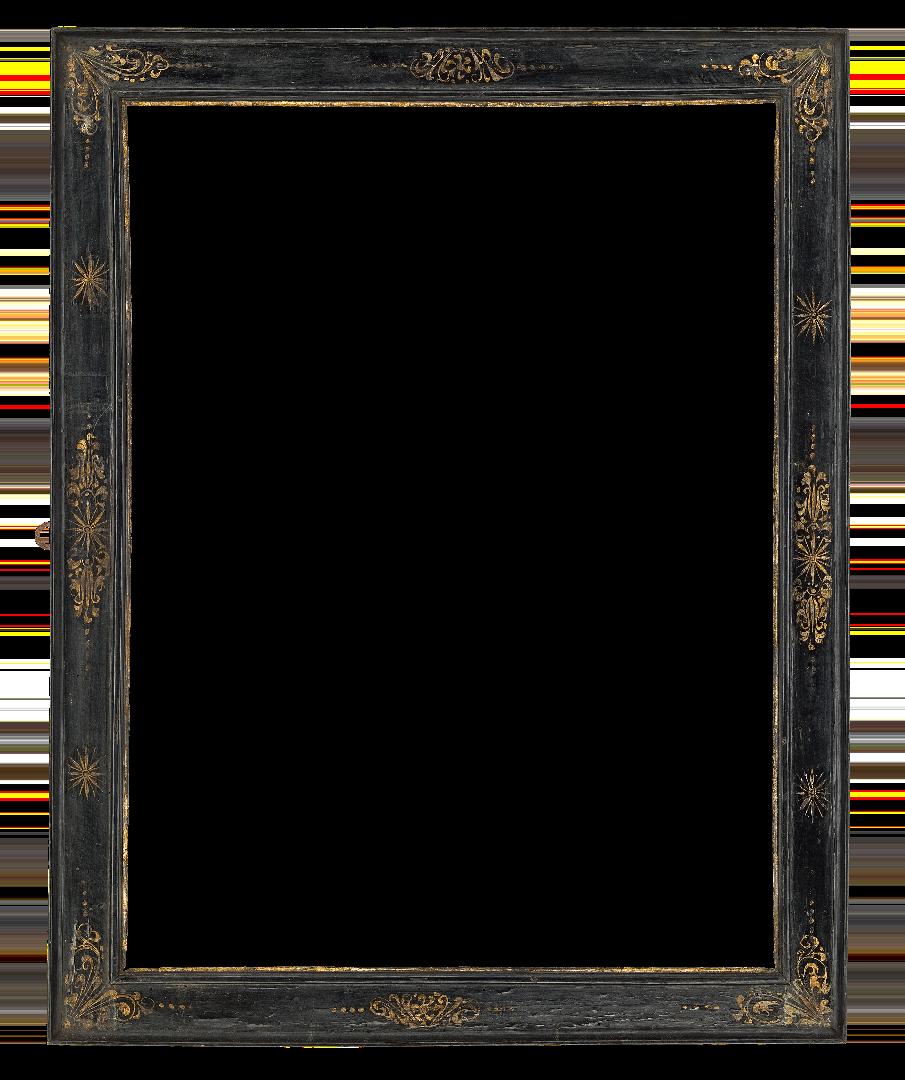 Italian 16th Century Black Cassetta Frame