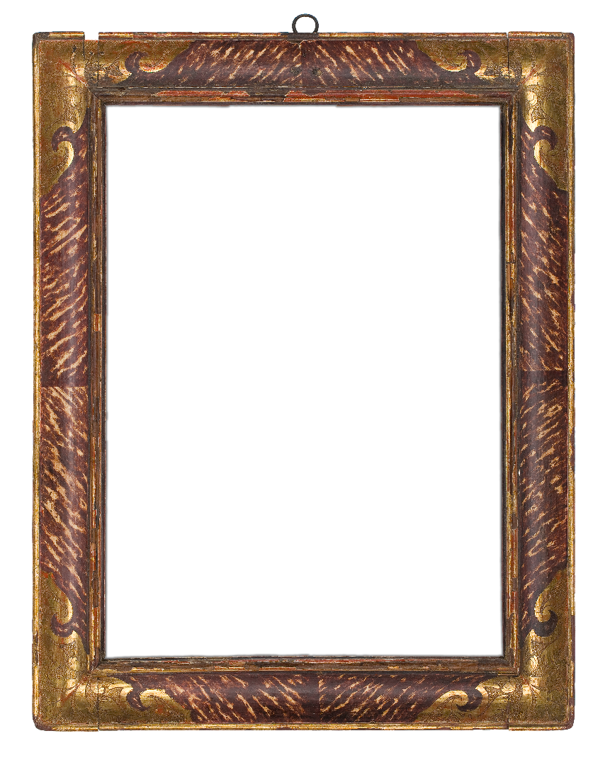 Spanish 17th Century Marbelized Receding Frame
